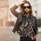 Леопардовая блуза футболка Esmara. Смотрите мои лоты