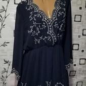 ❤️Новое, эксклюзивное платье, дорогой плотный шифон с вышивкой на подкладке❤️