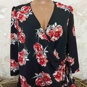 Блуза женская на запах, размер Л