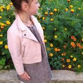 Куртка косуха на на 6-7лет,при росте 116-122см.