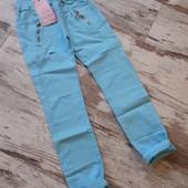 Легкие брюки скинни джеггинсы' облегченный коттон 100. Талия резинка р158р 91/70см