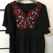 ☘ Лот 1 шт ☘ Блуза з вишивкою Sarah Chole (Англія), рр. наш 50-52 : xl євро