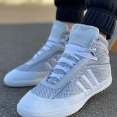 Хайтопы Adidas* Кожа Сетка не сквозная Все размеры!