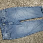 Люкс! стильные джинсовые бриджи р. 48/50 оч.хорошего сост