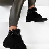 Из Польши! Ботиночки демисезон 38 размер! стильные и шикарные!