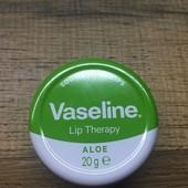 Оооочень много лотов! Бальзам для губ с алоэ Vaseline Lip 17 г(по ставке можно добрать)