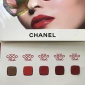100% оригинал!палетка помад Chanel Rouge Coco flash в палетке 5 оттенков по 0.25g+кисть