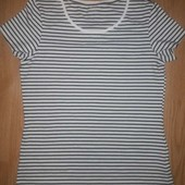 Полосатая хлопковая футболка Esmara, р.М 40/42 евро