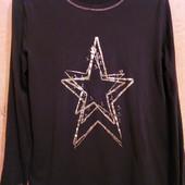 Немецкая cиняя брендовая хлопковая футболка на 50-54 р. bo_dy
