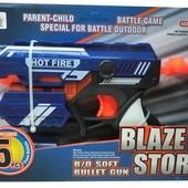 Пистолет на поролоновых патронах 5шт, удобный и безопасный!