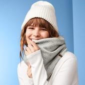 Двухсторонний, очень теплый и мягкий флисовый шарф/снуд от Tchibo, размер универсальный