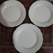 Класичні білосніжні тарілки 3шт. Баварія