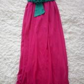 Яркое платье в пол 2 способа ношения. Размер S/М. Идеальное состояние!