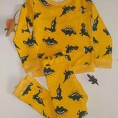 Теплая детская пижама хлопок на тонкой баечке,разные размеры