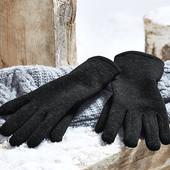 Теплые перчатки из трикотажного флиса от Tchibo (Германия), р.6,5