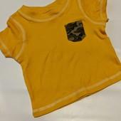 Хлопковая футболочка george ( Англия) Размер 0-3 мес