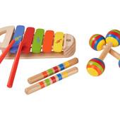 Супер качество для деток от 1 года! Набор деревянных музыкальных инструментов Playtive Junior