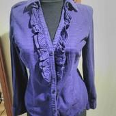 Блузка в клеточку с рюшами, размер евро 36