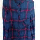 красивая модная рубашка в клетку от zara ,s