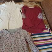 4 реглана на девочку 3-4 года, кофта, водолазка, гольф, футболка с длинным рукавом