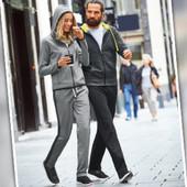 Сrane Германия -L-eur стильные женские укороченные брюки спереди велюровые, сзади-трикотажные