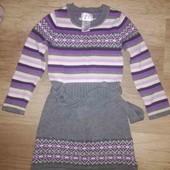 Тёплое вязаное платье