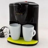 Капельная кофеварка + 2 чашки crownberg cb1560, кофе-машина