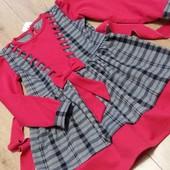 Красивое качественное трикотажное платьице для девочек