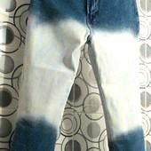 Высокая мода! Фирменные стрейчевые капри с высокой посадкой! Размер 12-14.