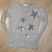 Тонкий свитер на 8-9лет рост 134