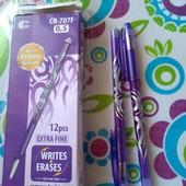 """набор из 2х ручек """"пиши-стирай"""" фиолетовая или синяя"""