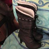 скидка на УП 10%!! Dish черные сапоги модные 37р на овчине ( из магазина Евротоп)
