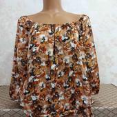 Блуза женская в цветочный принт Bhs, размер Л