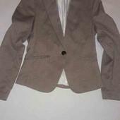 Пиджак на подкладке в мелкую клетку h&m