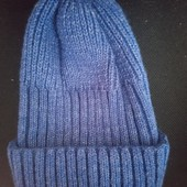 Новая, зимняя шапка упорной вязки