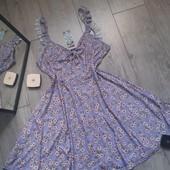 Бомбезное платье рюши бант в цветы