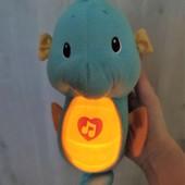 Интерактивный морской конек, звук, свет