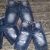 Джинсовые шорты бриджи pesierto L