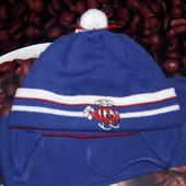 Теплый комплект- шапка и шарф от 1-2лет