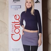 Conte колготки с заниженной талией Cotton Top 250 Den чёрные, на выбор размер 2, 3