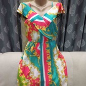 Лёгкое, воздушное летнее платье с открытыми плечиками, размер М