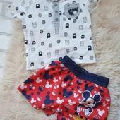 Футболка George +шорты Disney, 3-6м,в идеале)Много лотов