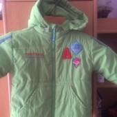 Куртка, внутри флис, холодная весна, размер 3 года 98 см, Kanz. состояние хорошее
