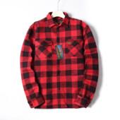 Фирменная тёплая мужская куртка-рубашка с карманами врезными бренд Longhorn размер L