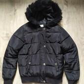 Теплая деми куртка бомбер YD на 9-10 лет в хорошем состоянии