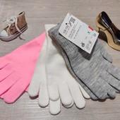 Германия!!! Лот из 3 пар демисезонные перчаток для девочки! 128-152!