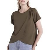 ☘ Блуза хакі з коротким рукавом застібка ззаду Our Heritage (Англія), рр. наш 48: хL євро