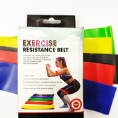 Набор фитнес резинки exercise resistance bands для фитнеса и спорта из 5 лент
