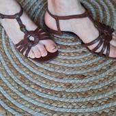 Кожаные сандали босоножки в хорошем состоянии, 38 р