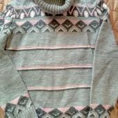 теплый шерстяной свитер по горло Турция